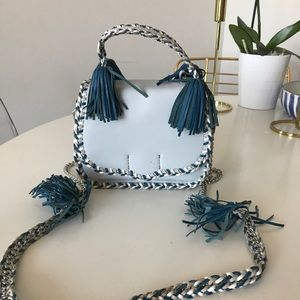 Rebecca Minkoff light blue cross body bag